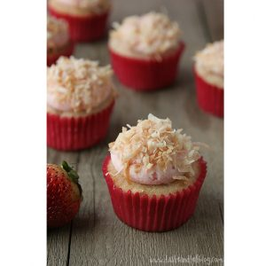 Strawberry Colada Cupcakes | www.tasteandtellblog.com