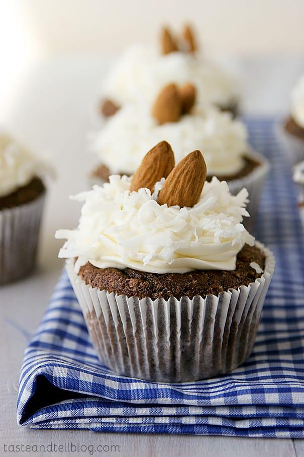 Almond Joy Cupcakes | www.tasteandtellblog.com