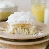 Coconut and Lemon Poke Cake