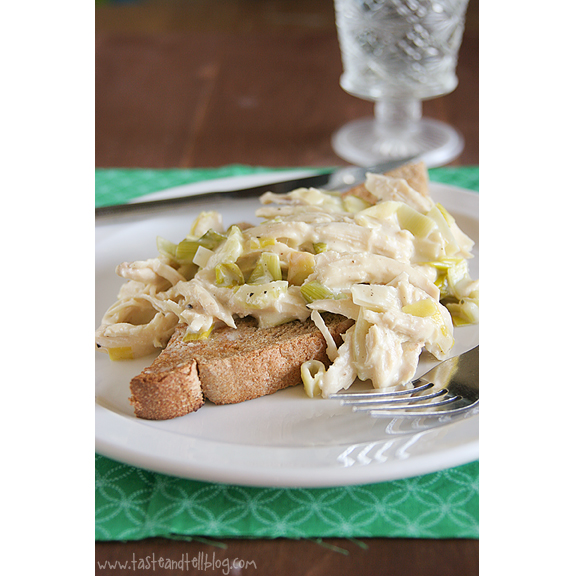 Cream of Chicken & Leeks on Buttered Toast