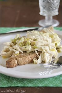 Cream of Chicken and Leeks on Buttered Toast