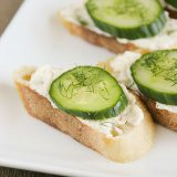 Cucumber Dill Toasties from www.tasteandtellblog.com