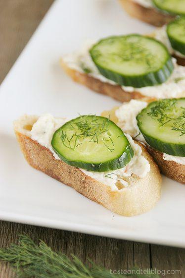 Cucumber Dill Toasties from www.tasteandtellblog.com