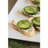 Cucumber Toasties | www.tasteandtellblog.com
