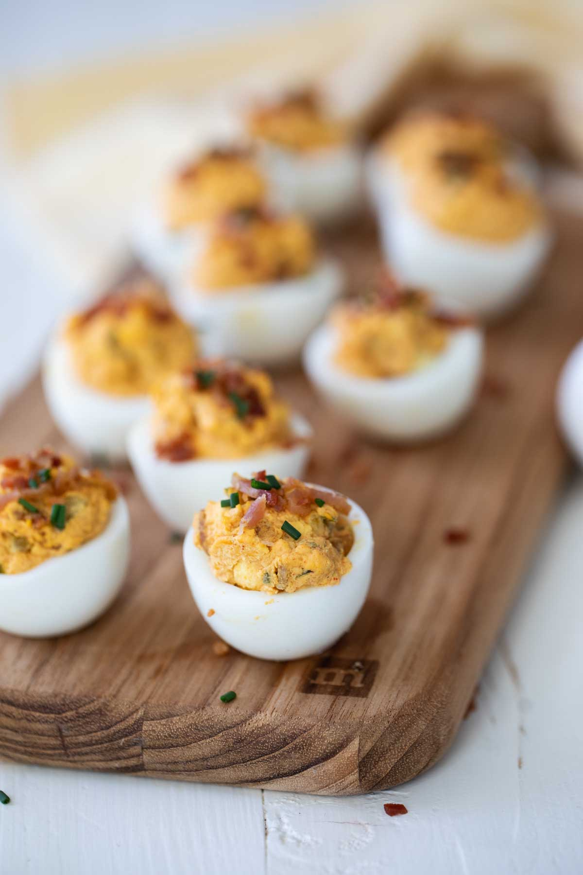 Easy Deviled Eggs With Bacon Recipe Taste And Tell