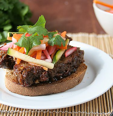 Hoisin Glazed Meatloaf Sandwiches | www.tasteandtellblog.com