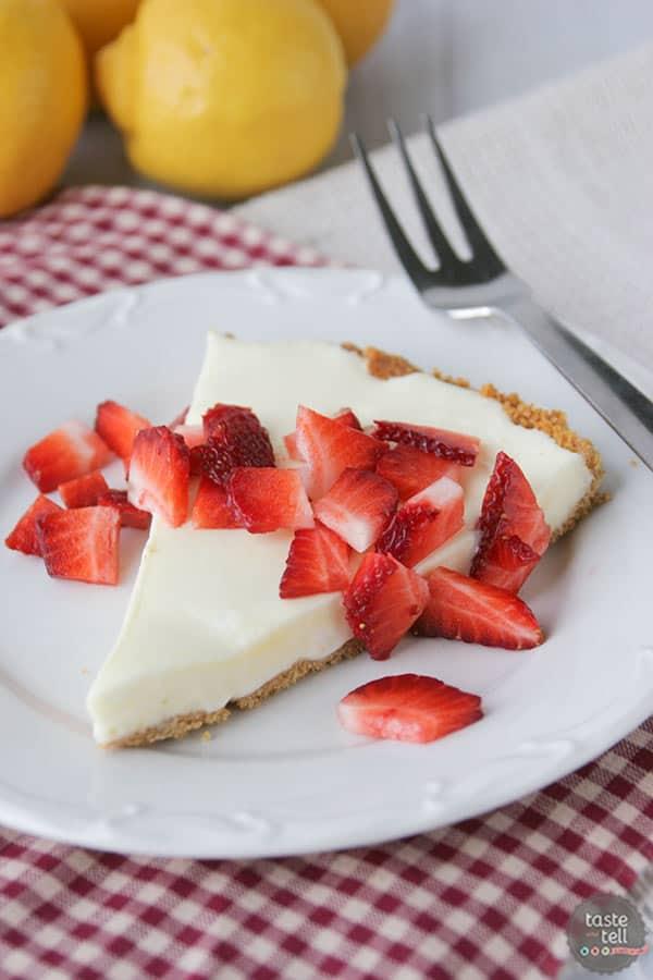 Marshmallow Lemon Tart Recipe on tasteandtellblog.com