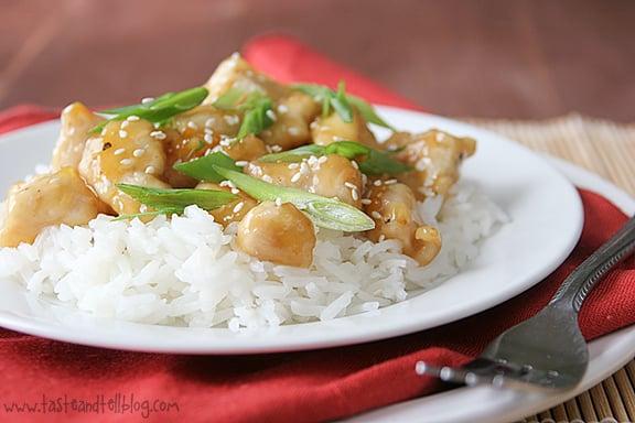 Orange Ginger Chicken | www.tasteandtellblog.com