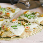 Chicken Quesadilla Suizas on Taste and Tell