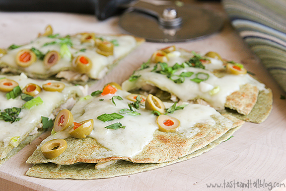 Chicken Quesadilla Suizas