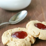 Peanut Butter and Jelly Thumbprint Cookie Recipe - a favorite sandwich in cookie form!