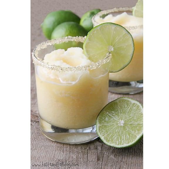 Virgin Frozen Margaritas | www.tasteandtellblog.com