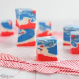 4th of July Tie Dyed Fudge | www.tasteandtellblog.com