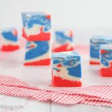 Festive 4th of July Tie Dyed Fudge