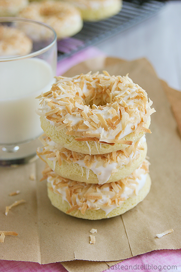 Baked Coconut Donuts Taste And Tell