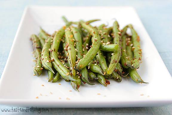 Green Beans with Ginger and Soy