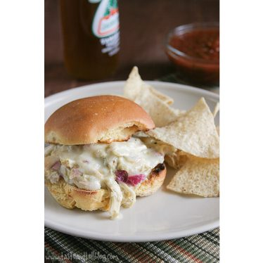 Pulled Chicken Suizas Sammies | www.tasteandtellblog.com