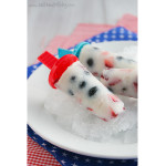 Red, White and Blue Milk Pops