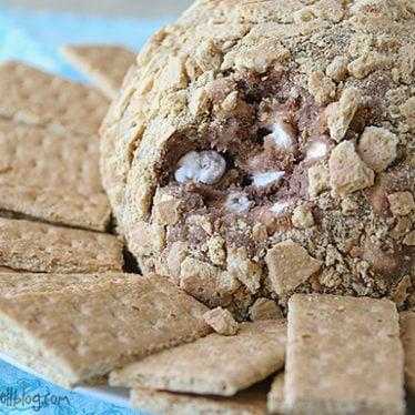 S'mores Cheeseball | www.tasteandtellblog.com