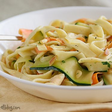 Vegetable Ribbon Pasta | www.tasteandtellblog.com #recipe #vegetarian #pasta