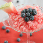 Watermelon and Blueberry Granita | www.tasteandtellblog.com