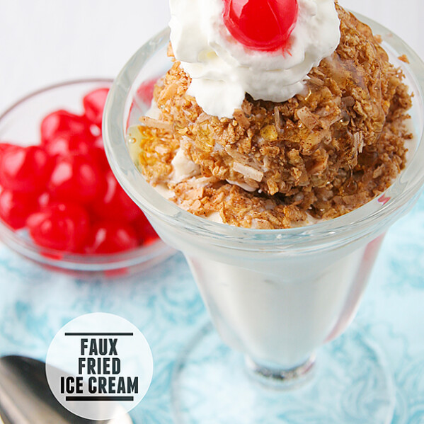 Faux Fried Ice Cream | www.tasteandtellblog.com