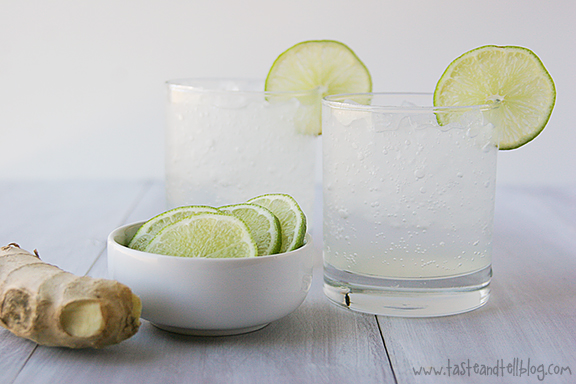 Ginger Lime Spritzer | www.tasteandtellblog.com