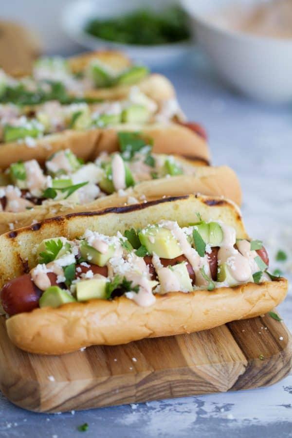 Easy Summer Dinner Ideas - Mexican Hot Dog