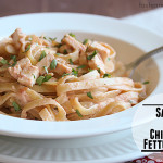 Salsa and Chicken Fettuccine
