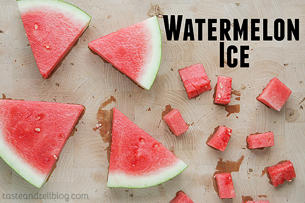 Ice Cubes Made from Watermelon