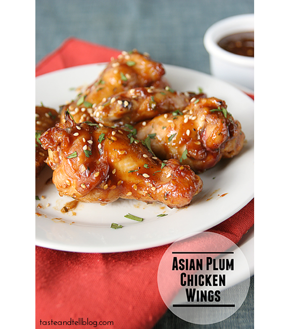 Asian Plum Chicken Wings   Taste and Tell
