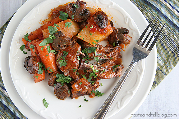 Fire Roasted Tomato Pot Roast | www.tasteandtellblog.com