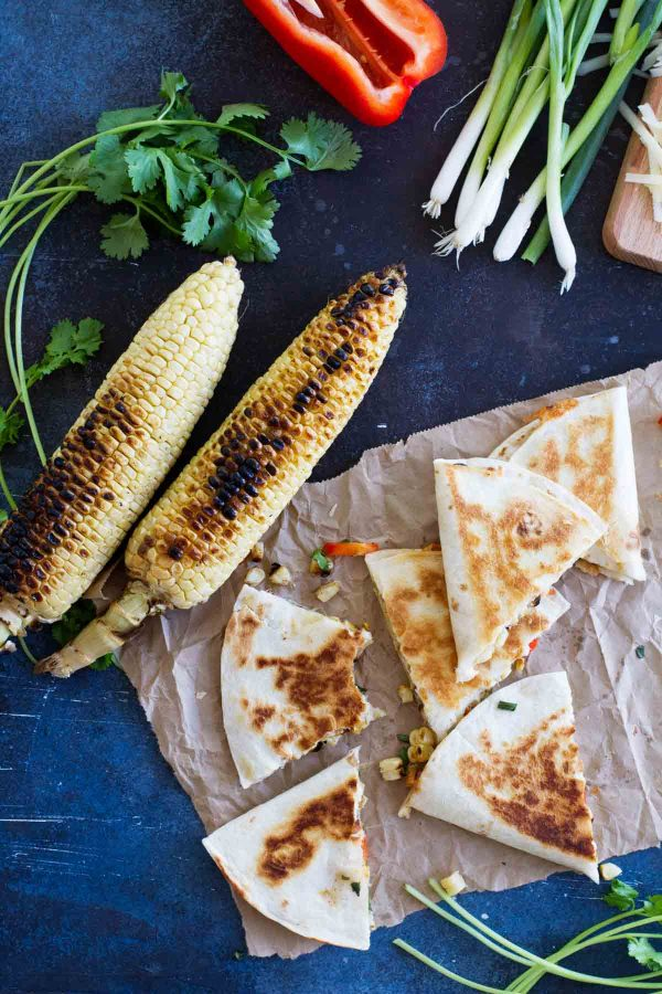 Easy summer dinner - Grilled Corn Quesadilla Recipe