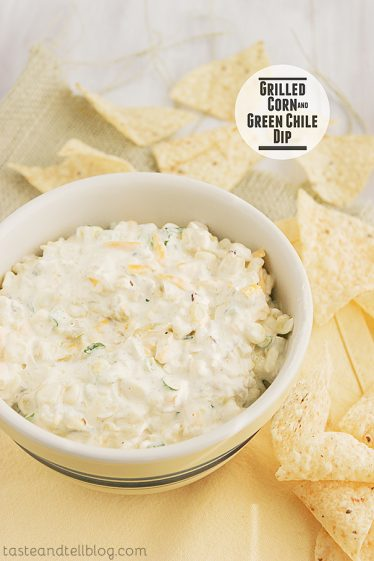 Grilled Corn and Green Chile Dip | www.tasteandtellblog.com