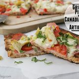 Pizza with Canadian Bacon and Artichokes | www.tasteandtellblog.com