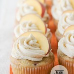 Peach Cupcakes on Taste and Tell