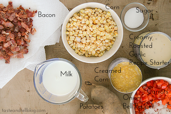 Slow Cooker Bacon and Corn Chowder | Taste and Tell