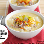 Slow Cooker Cheeseburger Soup | www.tasteandtellblog.com