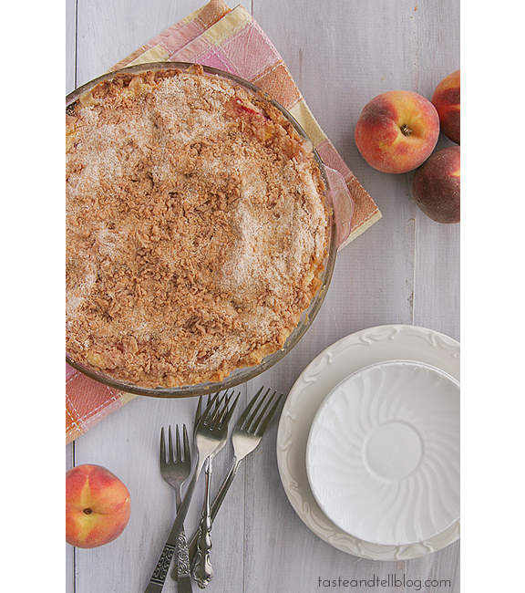 Sour Cream Peach Pie | Taste and Tell