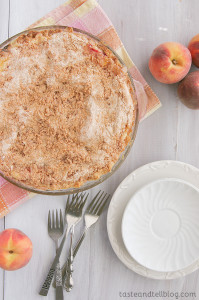Sour Cream Peach Pie | www.tasteandtellblog.com