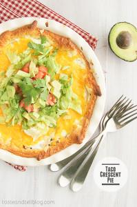 Taco Crescent Pie | www.tasteandtellblog.com