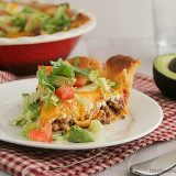 Taco Crescent Pie | Taste and Tell