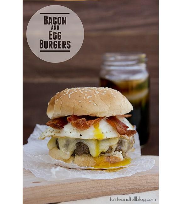 Bacon and Egg Burger   www.tasteandtellblog.com