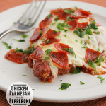 Chicken Parmesan with Pepperoni | www.tasteandtellblog.com