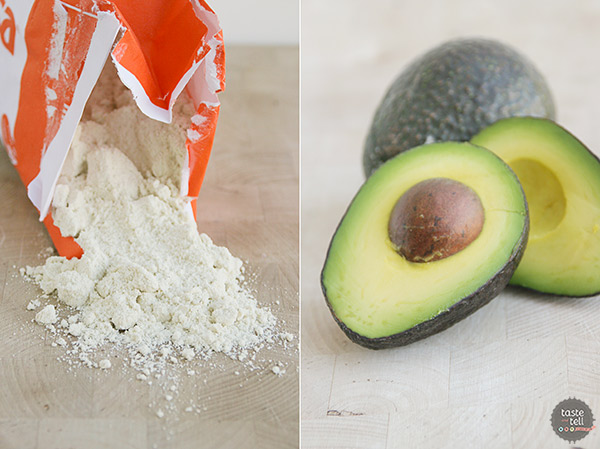 Ingredients for Chicken Sopes with Avocado Cream