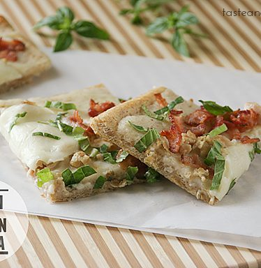 Clam and Bacon Pizza | www.tasteandtellblog.com