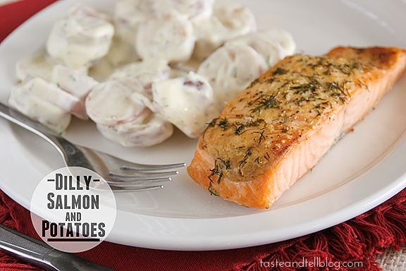 Dilly Salmon and Potatoes
