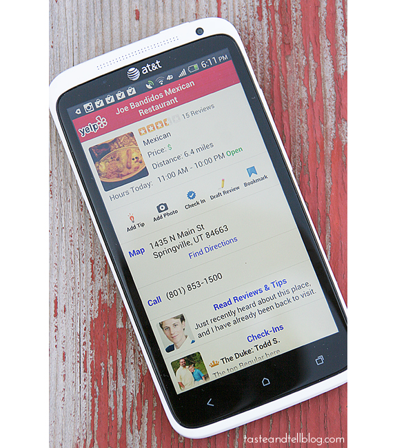 Favorite Foodie Apps - Yelp
