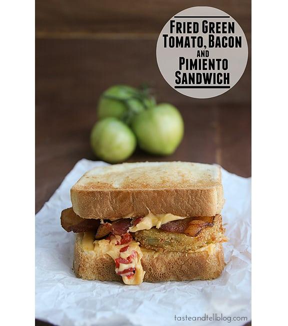 Fried Green Tomato, Bacon and Pimiento Sandwich | www.tasteandtellblog.com