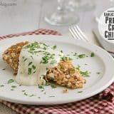 Garlic Parmesan Pretzel Crisp Chicken | www.tasteandtellblog.com